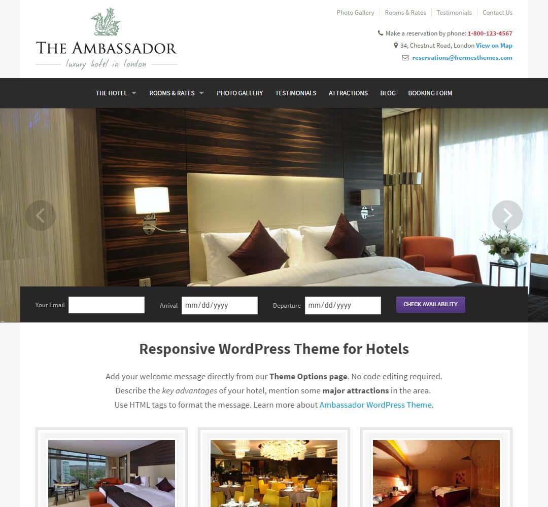The Ambassador WordPress Theme Screenshot