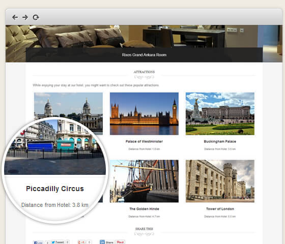 The Ambassador: Attractions Page Template