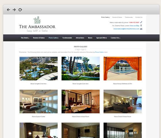 The Ambassador: Photo Gallery Template