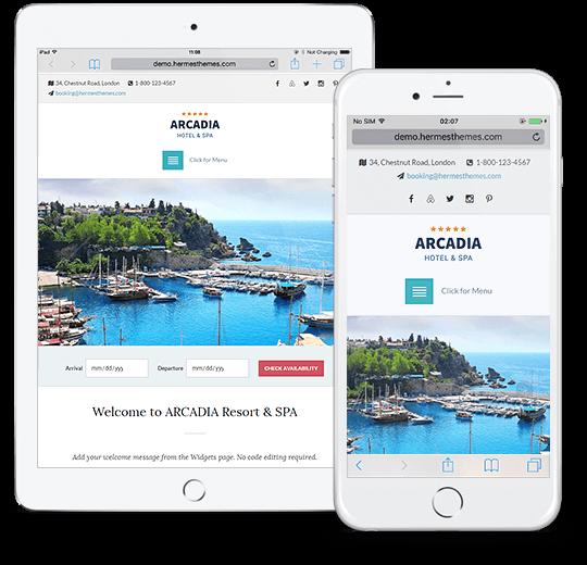 Arcadia WordPress Theme Responsive Preview