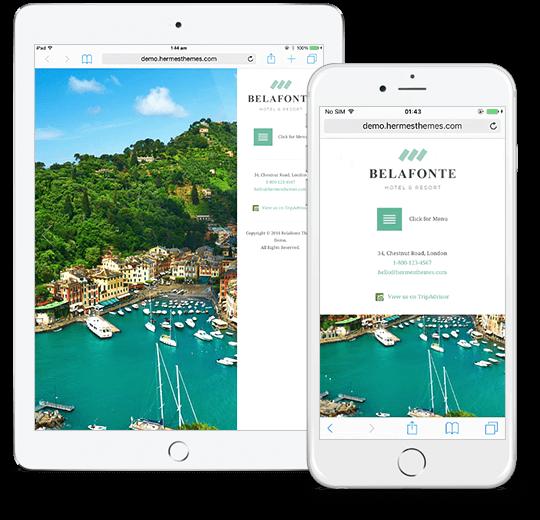 Belafonte WordPress Theme Responsive Preview