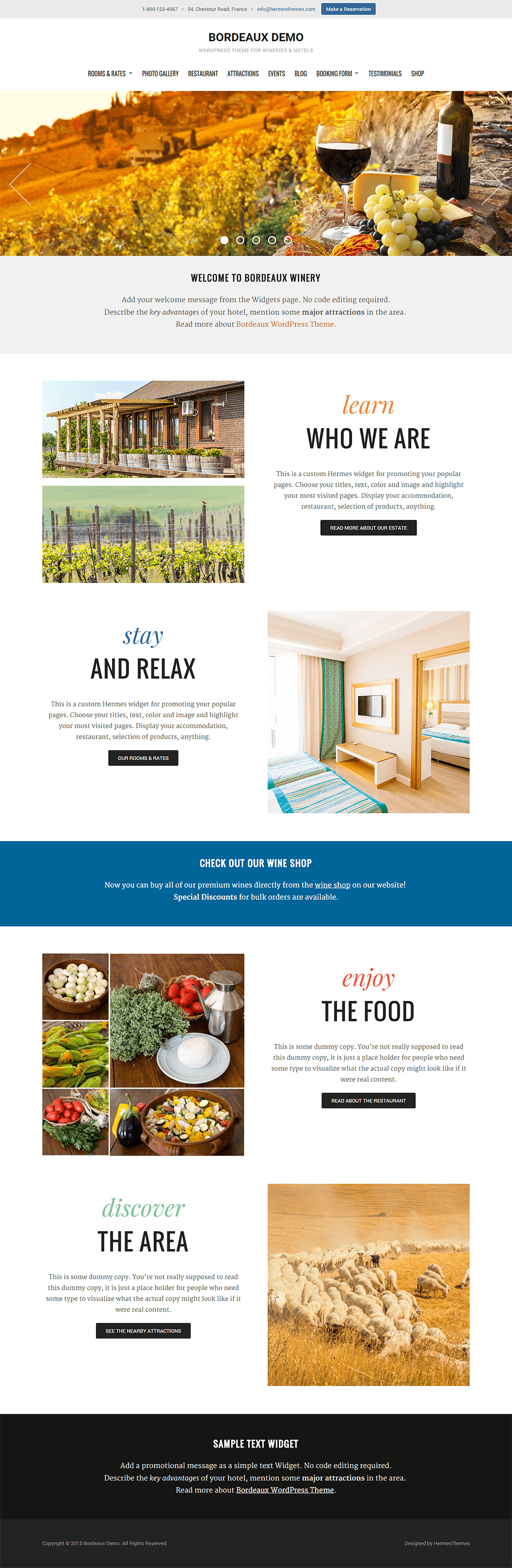 Bordeaux WordPress Theme Screenshot