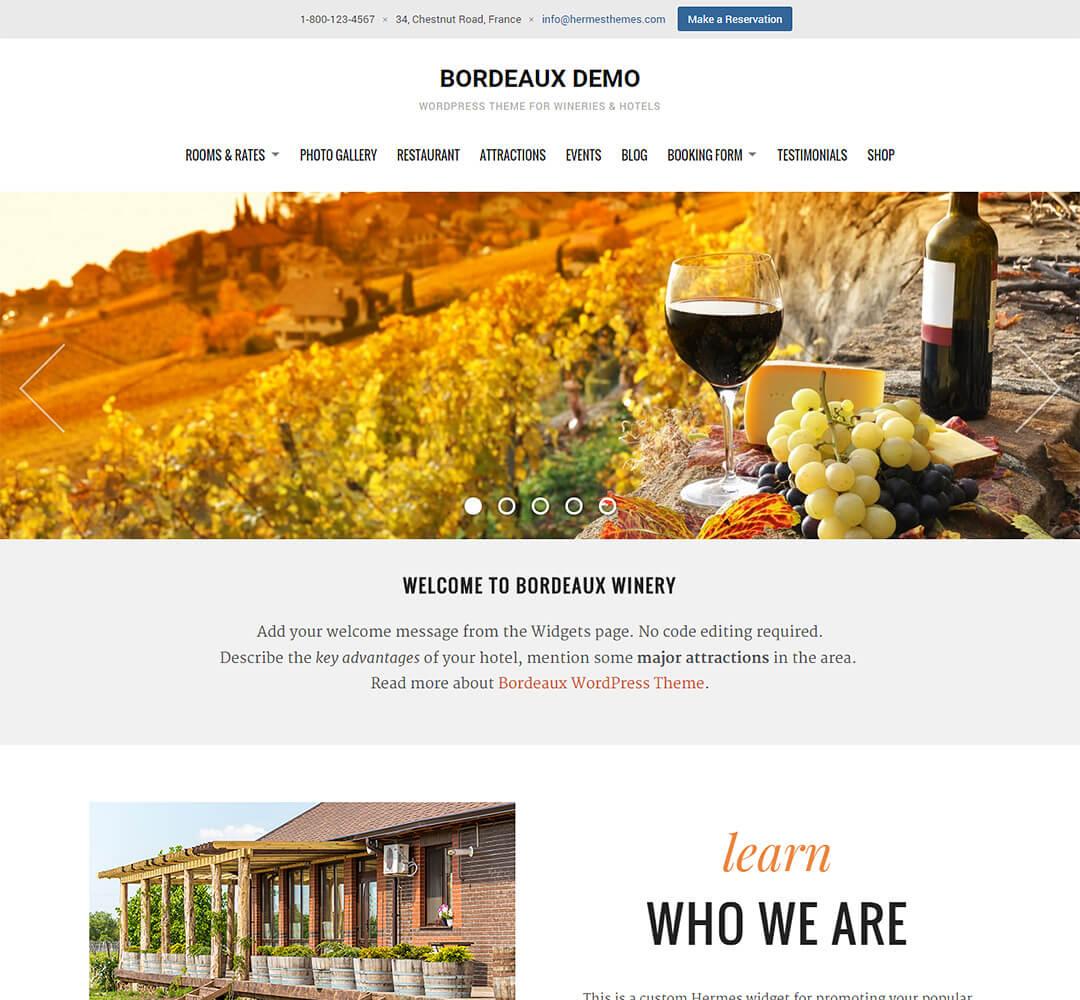 Bordeaux WordPress Theme Screenshot