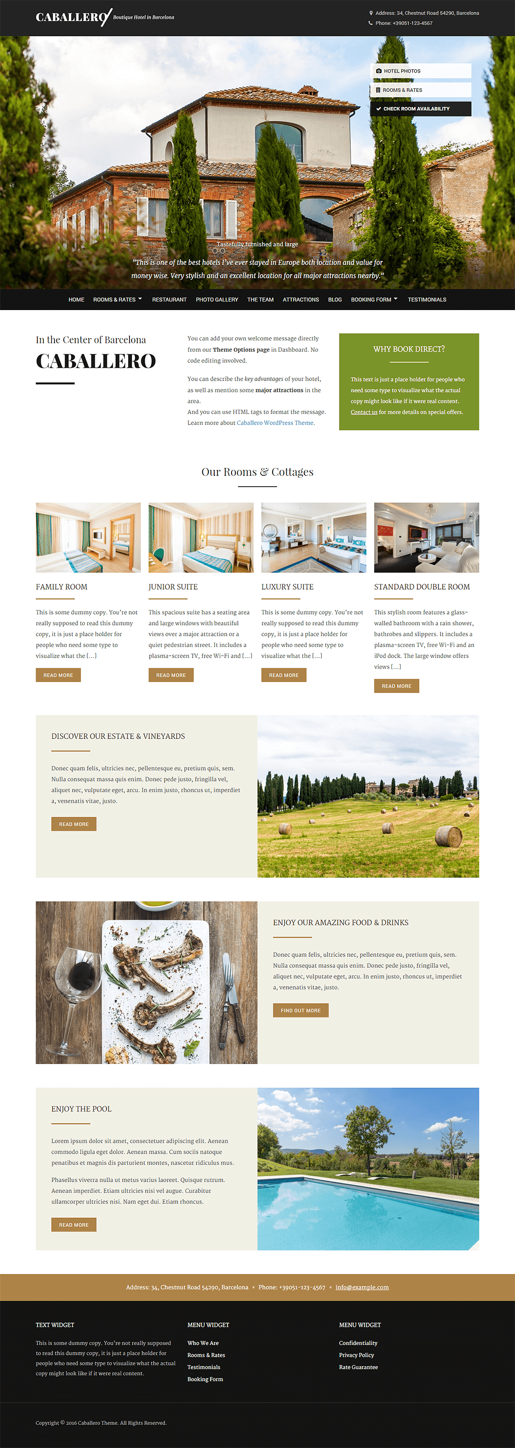 Caballero WordPress Theme Screenshot