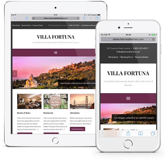 Fortuna WordPress Theme Responsive Preview