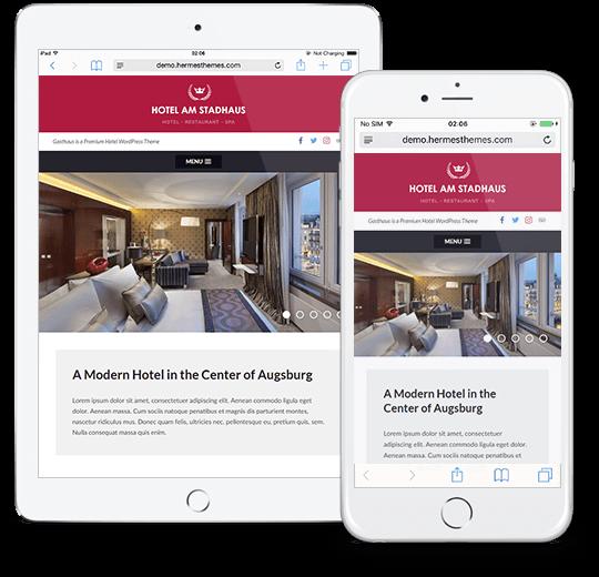 Gasthaus WordPress Theme Responsive Preview