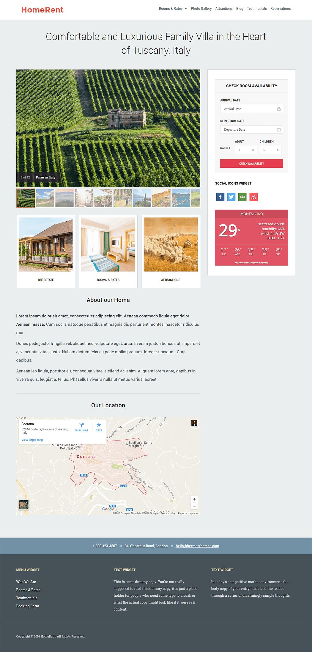 HomeRent WordPress Theme Screenshot