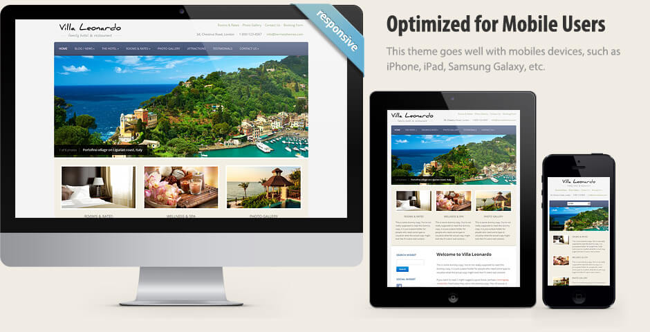 Leonardo - Elegant WordPress Hotel Theme