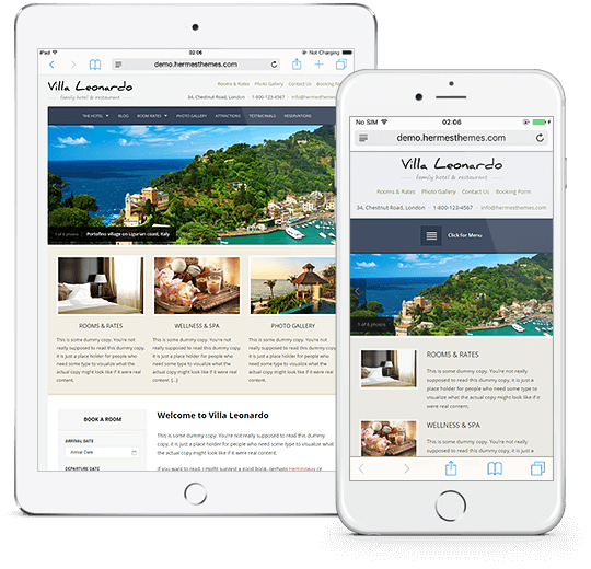 Leonardo WordPress Theme Responsive Preview