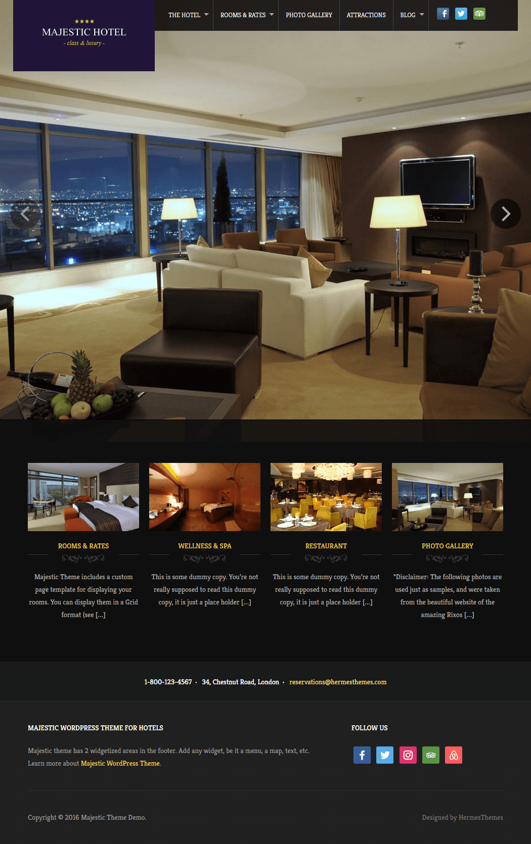 Majestic WordPress Theme Screenshot