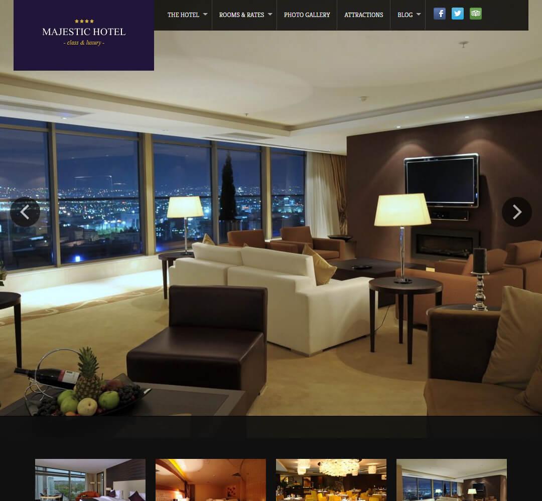 Majestic WordPress Theme Screenshot