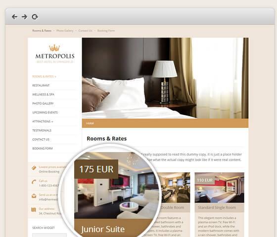 Metropolis - Classy WordPress Hotel Theme