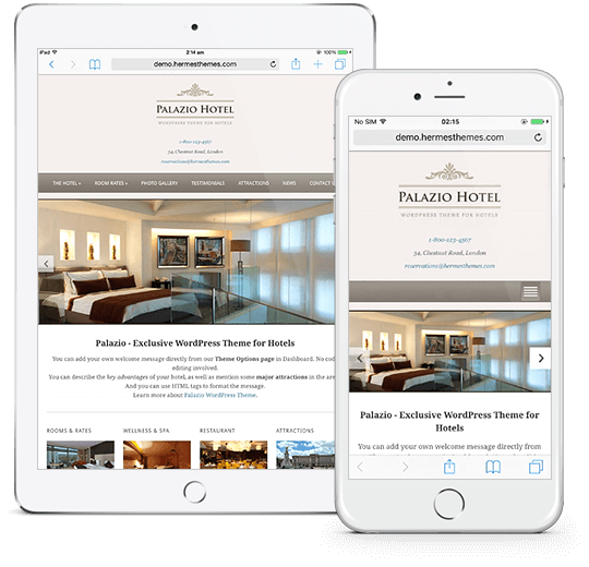 Palazio WordPress Theme Responsive Preview