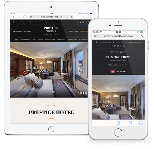 Prestige WordPress Theme Responsive Preview