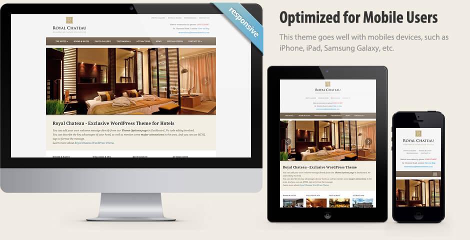 Royal cheateu - Elegant WordPress Hotel Theme