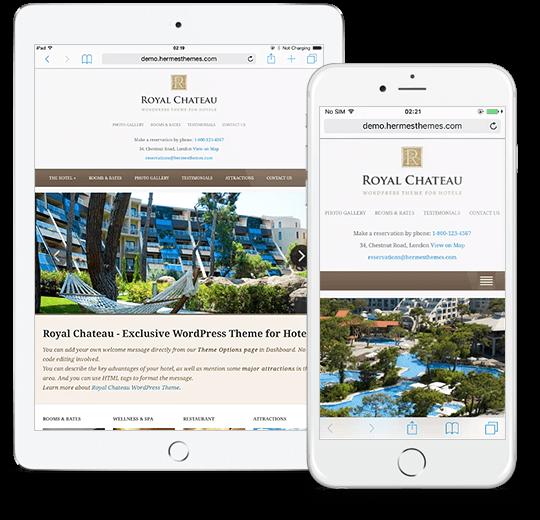 Royal Chateau WordPress Theme Responsive Preview