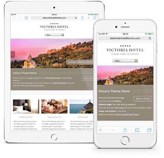 Victoria WordPress Theme Responsive Preview