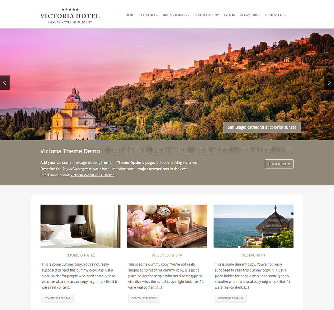 Victoria WordPress Theme Screenshot